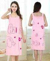 Women Bath Towel Wearable Microfiber Fabric Beach Towel Rose Red Soft Wrap Skirt Towels Super Absorbent