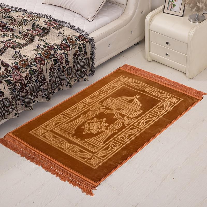 75x120cm Muslim Prayer Carpet Outdoor Garden Rug Pilgrimage Big Carpets For Living Room Home Livingroom Bedroom Bedside Carpet