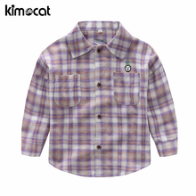 Kimocat Spring Autumn Toddler Kids Baby Boys Girls Shirt Western Tops Children Pocket Clothes Outfit Baby Kids Boy Shirt Clothes
