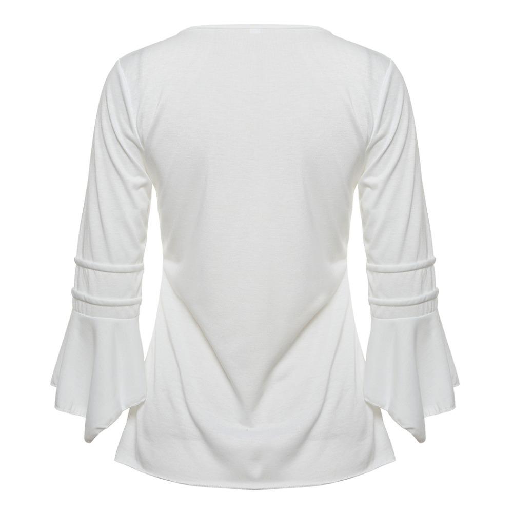 00eb77c749f1 Korea Style Women Blouse Shirts Elegant Ruffles Women Tops Plus Size ...