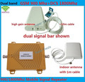 Full Set DCS 1800MHz + GSM 900Mhz Dual Band Mobile Phone Signal Booster Cell Phone DCS GSM Signal Repeater Amplifier + Antenna