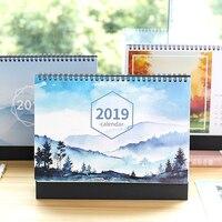 Новый 2019 Настольный календарь доска планировщик повестки дня ежедневные кавайный планировщик принт календаря 21*25,5 см