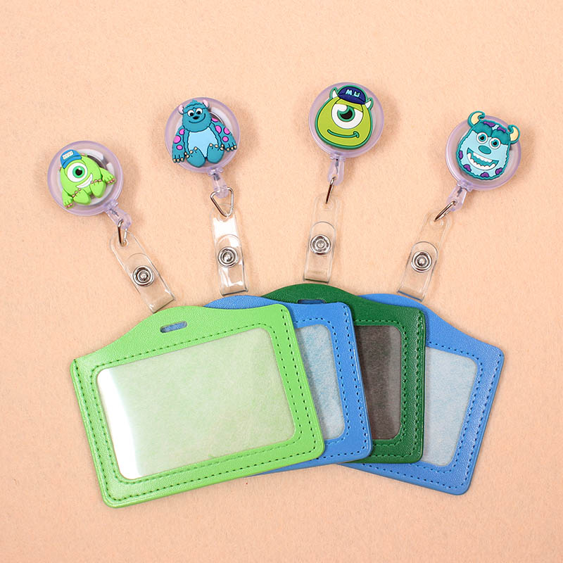 Monster University Badge Scroll Nurse Office Reel Character Scalable Student Nurse Exhibition PU Business Card Badge Holder