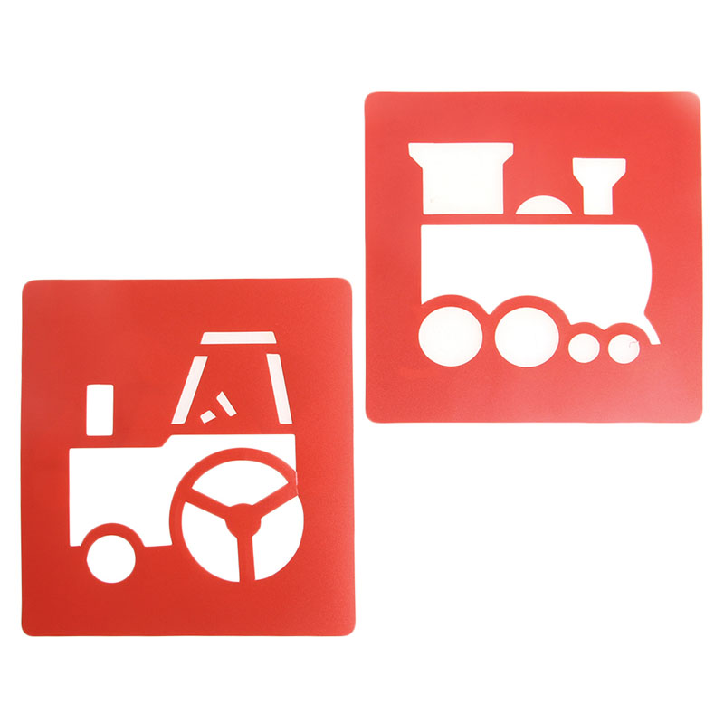 New-6x-Children-Transport-Shaped-Plastic-Painting-Drawing-Template-Stencil-Kids-Toy-3