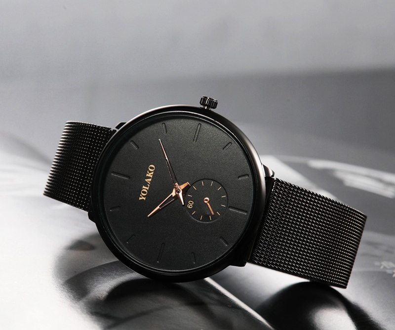 HTB1HItUboY1gK0jSZFCq6AwqXXaB DONROSIN Men Casual Slim Black Mesh Steel Wrist Sport Watch Fashion Mens Watches Top Brand Luxury Quartz Watch Relogio Masculino