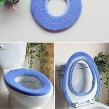 Аксессуары для ванной комнаты туалет коврик для ванной туалет покрытие места туалет набор, туалет, подогрев сидений ТУАЛЕТ сиденье коврик Цвет случайный