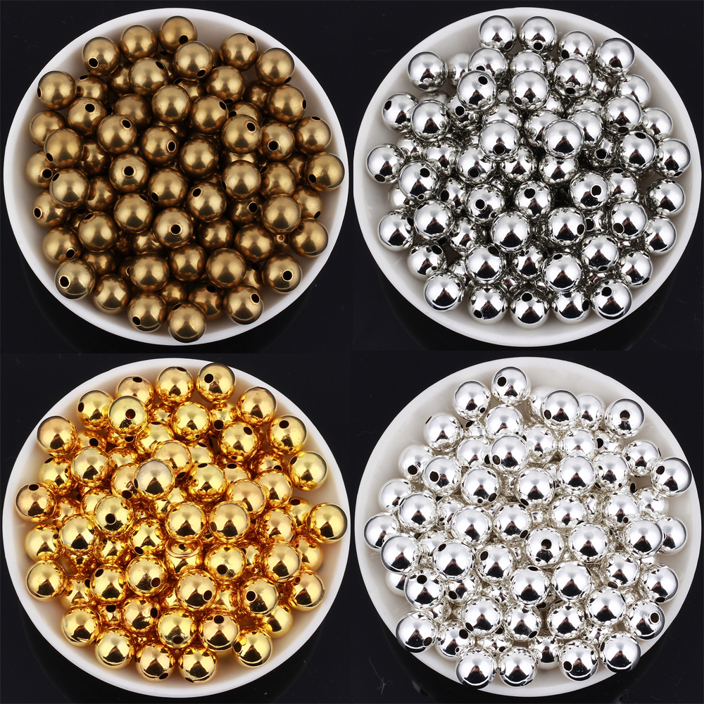 GDFSY 100pcs lot 8mm Fashion Handmade DIY Metal Round Beads for Jewelry Making Accessories Made in Bracelet Necklace S006 in Beads from Jewelry Accessories