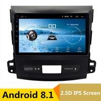 9 2.5D IPS Android 8,1 автомобильный DVD мультимедийный плеер gps для Mitsubishi Outlander 2006 4007/peugeot 2012 Радио Стерео навигация
