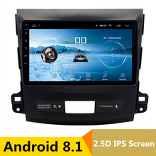 9″ 2.5D IPS Android 8.1 Car DVD Multimedia Player GPS for Mitsubishi Outlander 2006-2012 / Peugeot 4007 radio stereo navigation