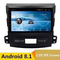 9 2.5D IPS Android 8.1 Car DVD Multimedia Player GPS for Mitsubishi Outlander 2006 2012 / Peugeot 4007 radio stereo navigation