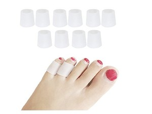 Image 1 - 10 pcs/lot Silicone gel little toe tube corns blisters Corrector pinkie protector gel bunion toe finger protection gel sleeve