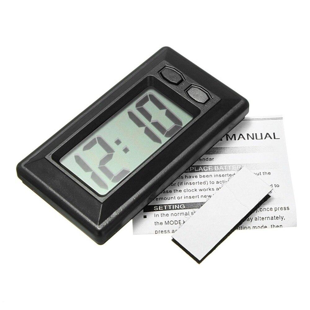 Hot Ultra-thin LCD Digital Display Car Vehicle Dashboard Clock with Calendar Display Mini Portable Automobile Accessories