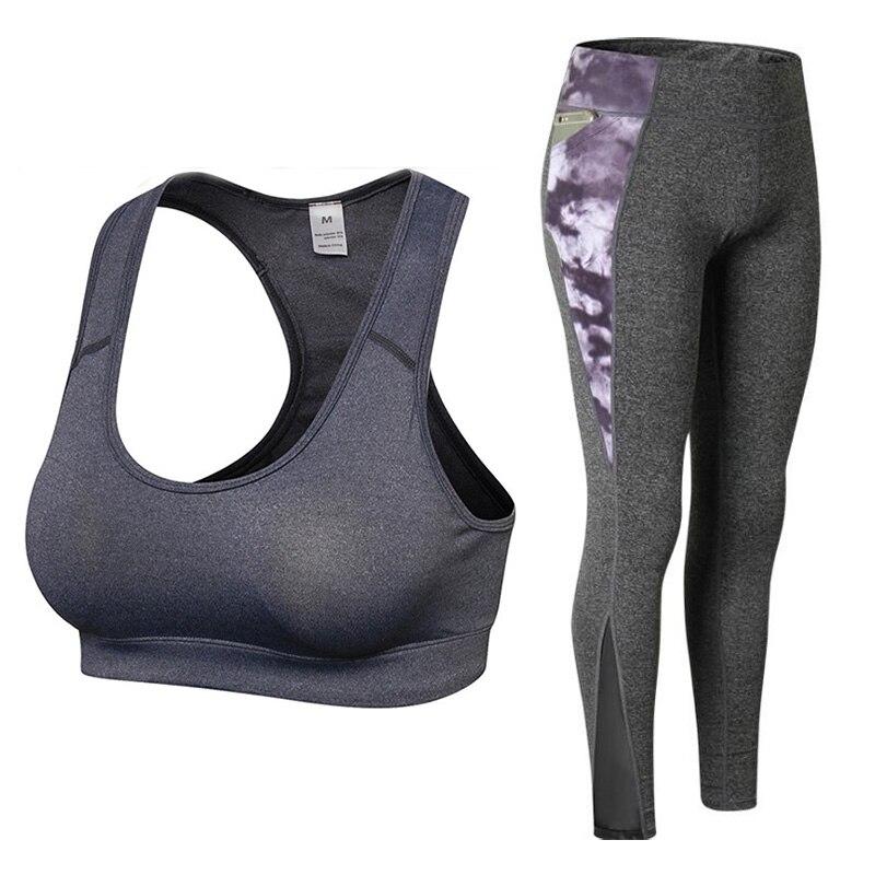 ✔  Тренажерный зал 2 шт. Тренировочная одежда для женщин Спортивный бюстгальтер и леггинсы Спортивная о ✔