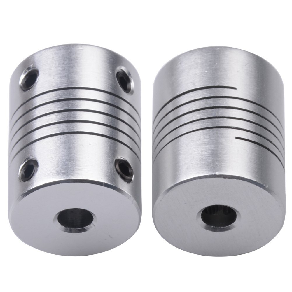 2 PCS Flexible Couplings 5mm To 5mm NEMA 17 Shaft For RepRap 3D Printer Or CNC Machine