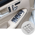 Inner Door Armrest Window Switch Cover Trim For Benz CLA C117 W117 2014-2015 5pcs