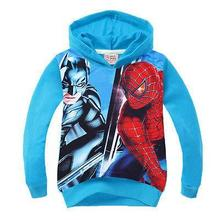 2017 New Design Spiderman Kids Boys Hoodies Sweatshirts autumn spring Childrens Clothing Three-8Y