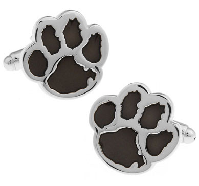 Men Gift Bear Paw Cufflinks Wholesale&retail Black Blue Red Color Option Copper Material Novelty Animal Design