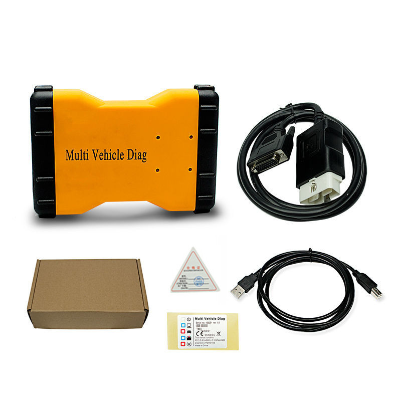 DHL!! Multi Vehicle Diag MVD 2015R3/2016R0 VD TCS CDP Pro LED 3IN1 Bluetooth + 8Pcs/Set Car Cables Connectors Diagnostic Tool - 4