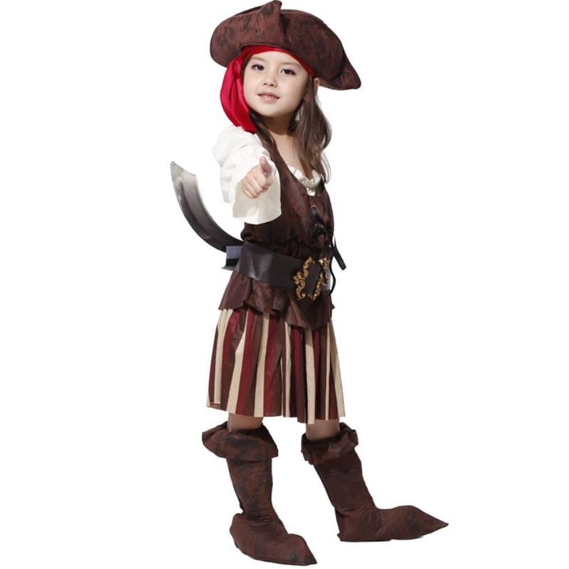 Image 5 - Birthday Party  Girls Elis Pirate Captain Cosplay Costume Halloween Carnival Party Dresscosplay costumecostume cosplaycosplay dress -