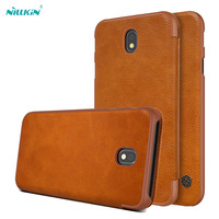 Nillkin Qin Vintage Leather Case For Samsung Galaxy J7 2017 PU Leather Hard Plastic Back Cover