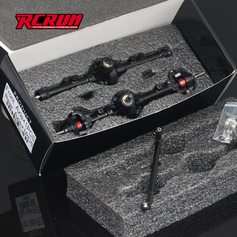 1/10 Scale M6C SCX10 HD FULL METAL ALUMINUM AXLES FRONT & REAR RC Rock Crawler Car AXLE free shipping 112118 2 pieces set drive axles rear rear wheel shaft for fs racing mcd fg cen reely 1 5 scale rc car