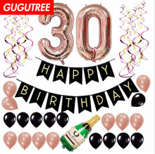 30 Years&40 Years&50 Years&60 Years Old Happy Birthday Party Decorate Foil Balloons Banners PD-26