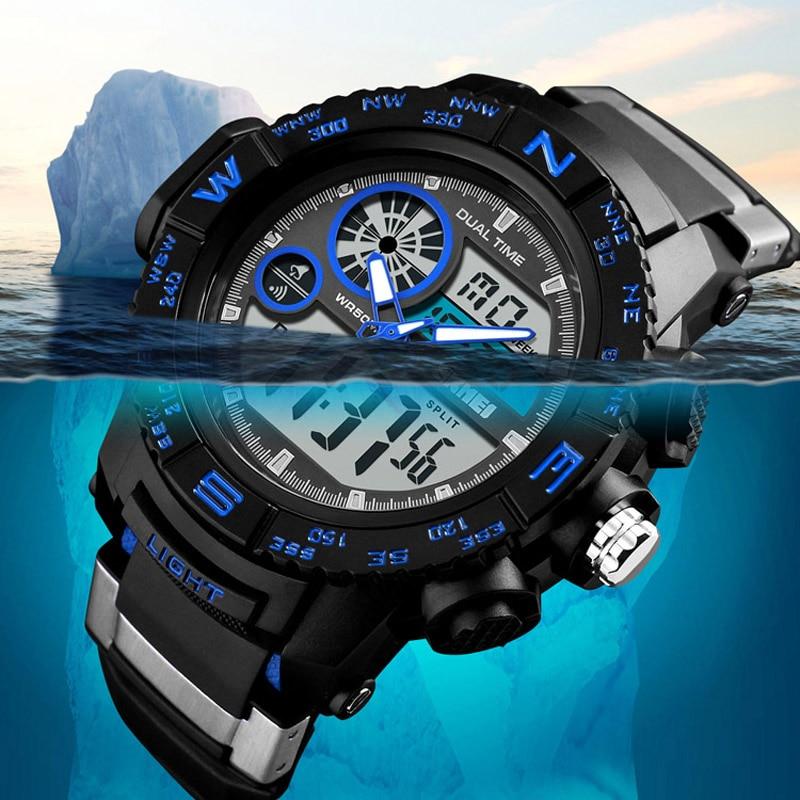 Fashion Mens Watches Outdoor Men Sports Watches SKMEI Brand Waterproof Digital Quartz Watch Men Wristwatches Relogio Masculino