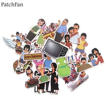 Patchfan 21pcs Bobs burger Pvc Waterproof Cartoon Sticker For car Luggage Phone Laptop Moto Bicycle Wall Guitar Stickers A1234