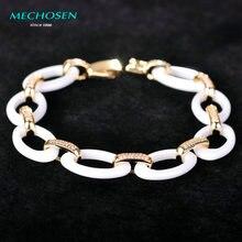 MECHOSEN Ceramics Bracelets For Women Copper Pulsera AAA Zircon Full Crystal Bracelet Homme Christmas Accessories With Gifts Box