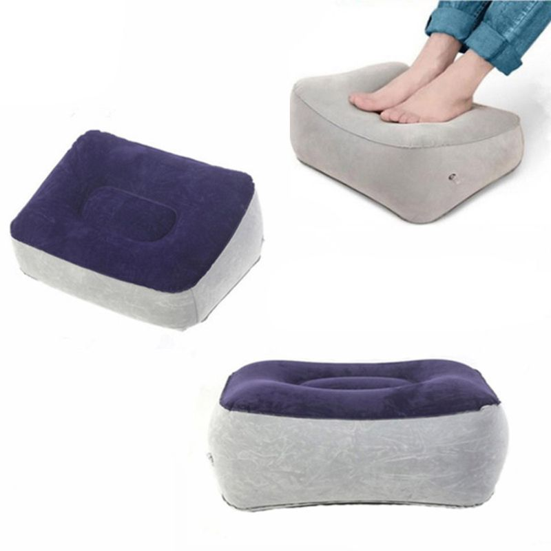 New Men Women Inflatable Travel Accessories Portable Pillow Feet Cushion Relax For Airplane Office Bus Car Train Home Use