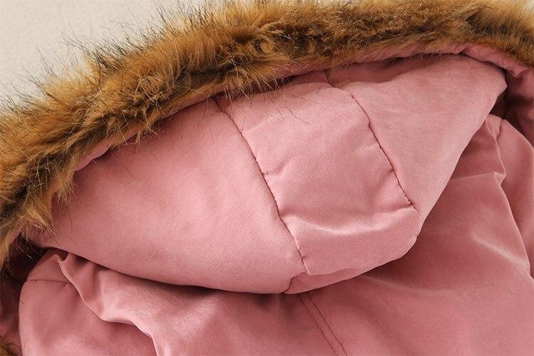 19 Winter New Women's Hooded Fur Collar Waist And Velvet Thick Warm Long Cotton Coat Jacket Coat 28