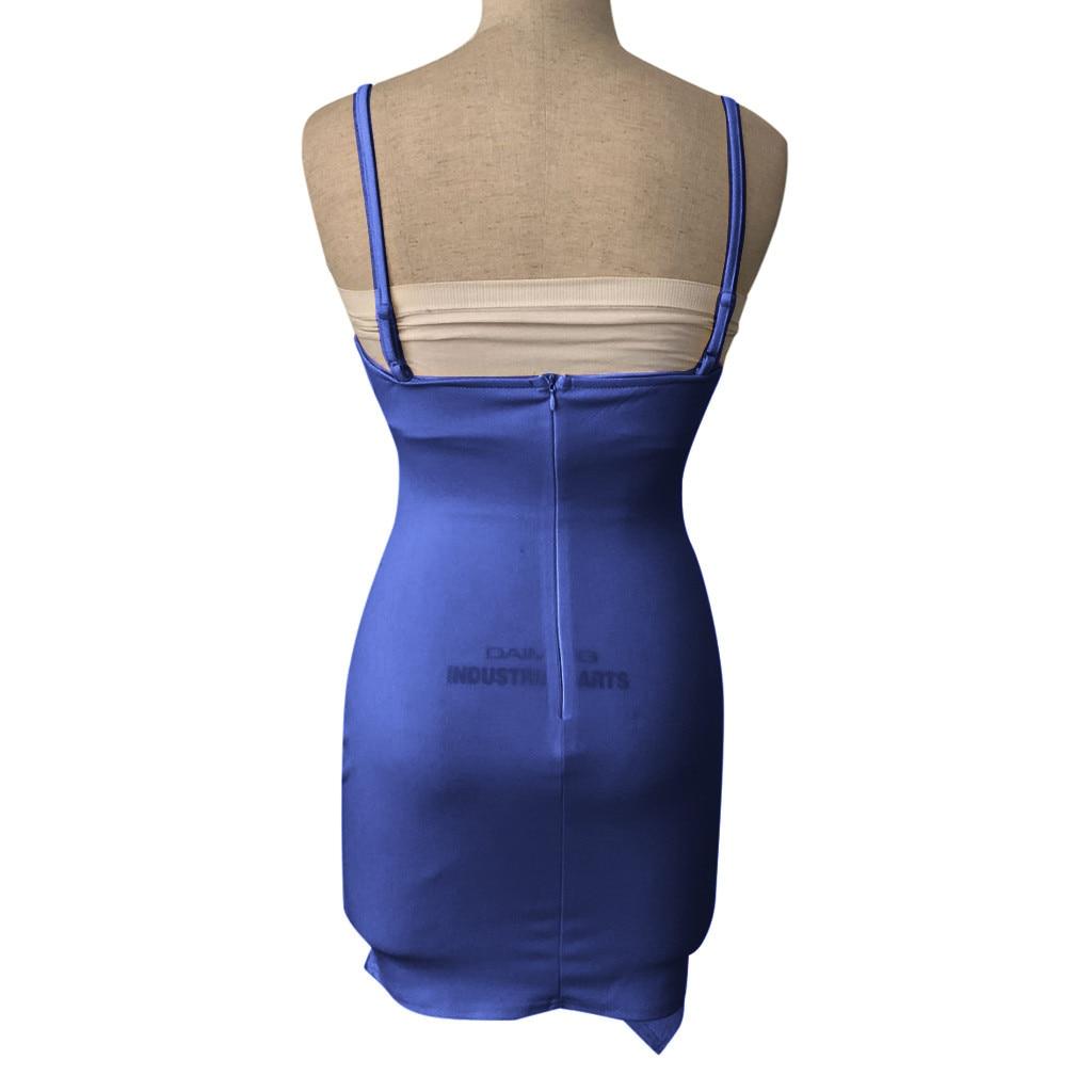 Pure Color dress women summer 2019  Sleeveless Deep V Tight Fitting  Camisole Buttock casual dress spring sukienka vestidos#G9