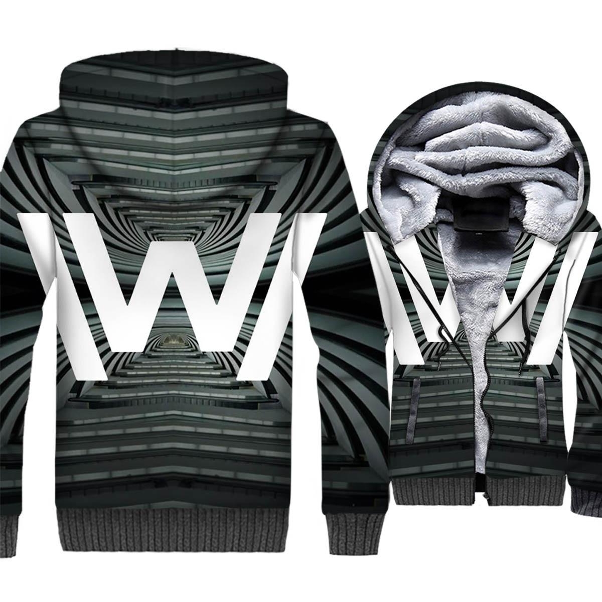 winter casual wool liner zipper hoodies 2019 new hot TV series Westworld jackets coats sportswear harajuku plus tracksuits M 5XL