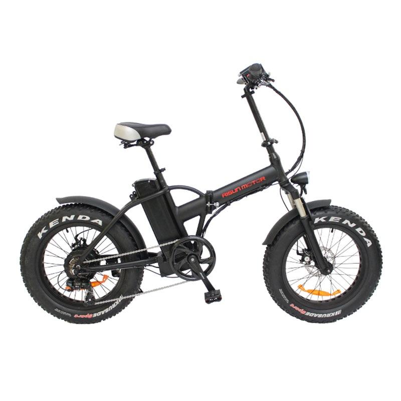 20 дюймов электрический велосипед fat tire snow bike 500 Вт скоростной мотор EBIKE 48 В в литий-ионная батарея 4,0 шины складной Электрический горный велос...