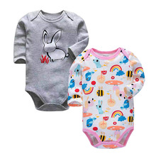 Baby Boys Bodysuit Babies Newborn Toddler Long Sleeve Two Piece Body 3-24 Months Lovely Infant Girls Clothes