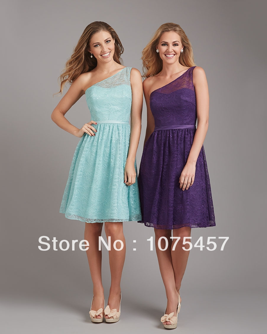 Hot Sale Lace Bridesmaid Dresses 2014 New Arrival Pleat with Sashes ...