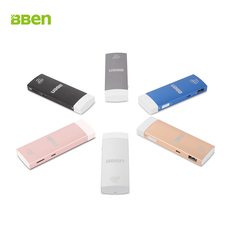 BBen MN1S Mini PC Windows 10 & Android 5.1 Intel Z8350 Quad Core 2GB RAM Mute Fan USB3.0 Dual WiFi BT4.0 Mobile PC Stick xcy mini pc core i3 6100u hd graphics 520 2 30ghz dual core gaming pc htpc 4k hdmi tv ddr4 300m wifi windows 10 fanless