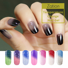 Zation Temperature Change Gel Varnish Bling Nail Polish Thermal Nail Art Polsih Thermo Top Base Coat chameleon Lacqeur Primer