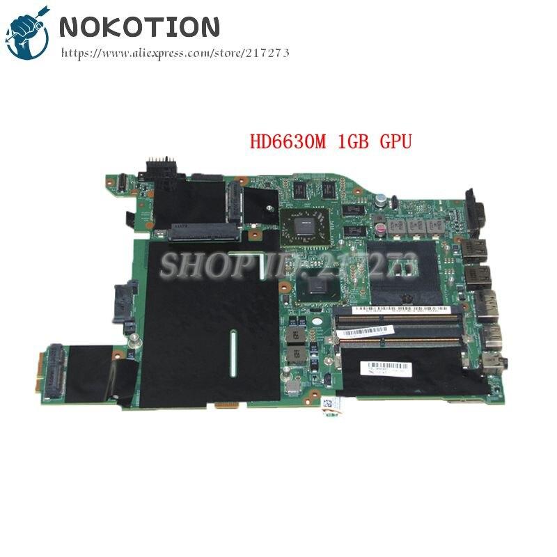 NOKOTION 04W0462 MAIN BOARD For Lenovo thinkpad edge E420 PC Motherboard HM65 DDR3 HD6630M 1GB Discrete graphics notebook pc motherboard for lenovo v360 main board system board 48 4jg01 011 ddr3 305m discrete graphics