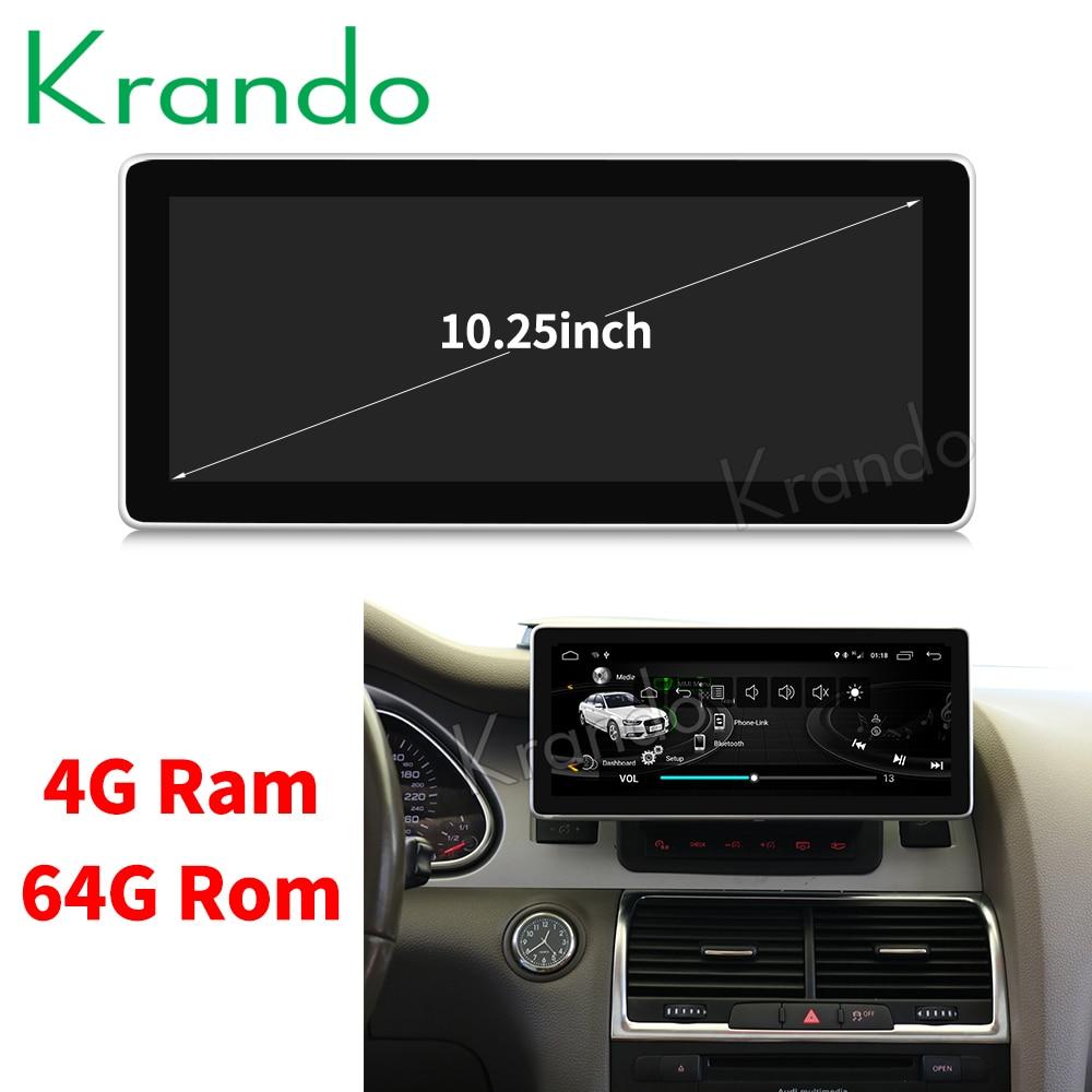 Krando Android 8 1 10 25 car radio for Audi Q7 2005 2009 multimedia player gps