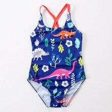 2019 New Swimsuit Girls One Piece Swimwear Animal Bandage Bodysuit Floral Children Beachwear Sports Swim Suit Bathing
