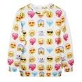 Adogirl Emoji Sweatshirt Round Neck QQ Emotion Print Pullover Women Tops Harajuku Hoodies Female Tracksuits