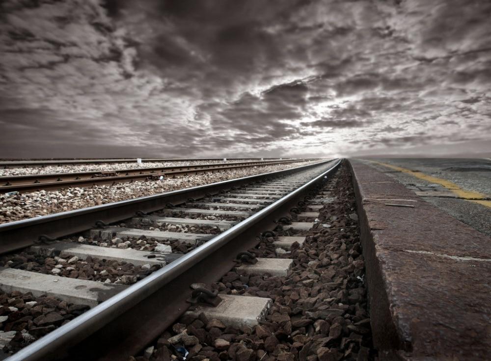 7x5ft Vinyl Custom Railway Theme Photography Backdrops Prop Photo Studio Background NTG-240