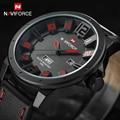 Naviforce marca de luxo de quartzo dos homens sports relógios homens analógico data homem relógio militar pulseira de couro relógio de pulso relogio masculino