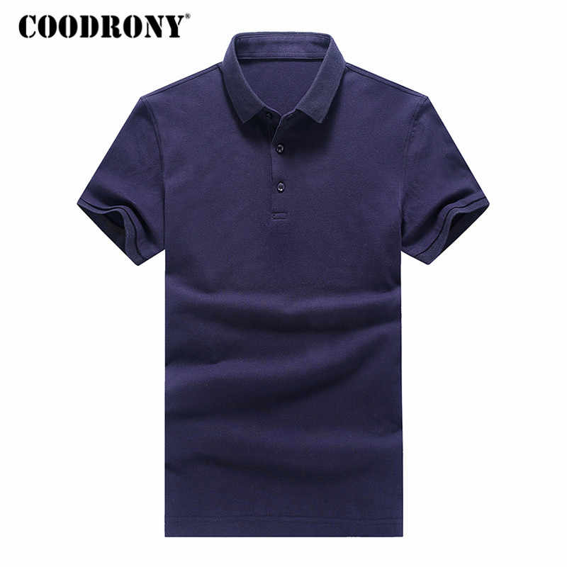 COODRONY T Shirt Men 2018 Spring Summer Top Classic Solid Color Turn-down Collar T-Shirt Men Short Sleeve Tee Shirts Homme S8625