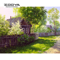 5D DIY Diamond Painting Crystal Diamond Painting Cross Stitch Needlework Green Lawn Garden Landscape Home Decorative