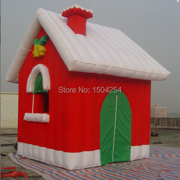 Toy house inflatable Christmas house for Christmas festival double slides commercial inflatable bouncer bounce house