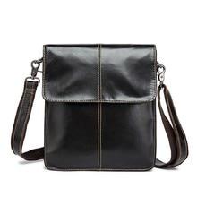 Новая сумка через плечо из натуральной воловьей кожи, простая повседневная маленькая деловая сумка, кожаные сумки через плечо