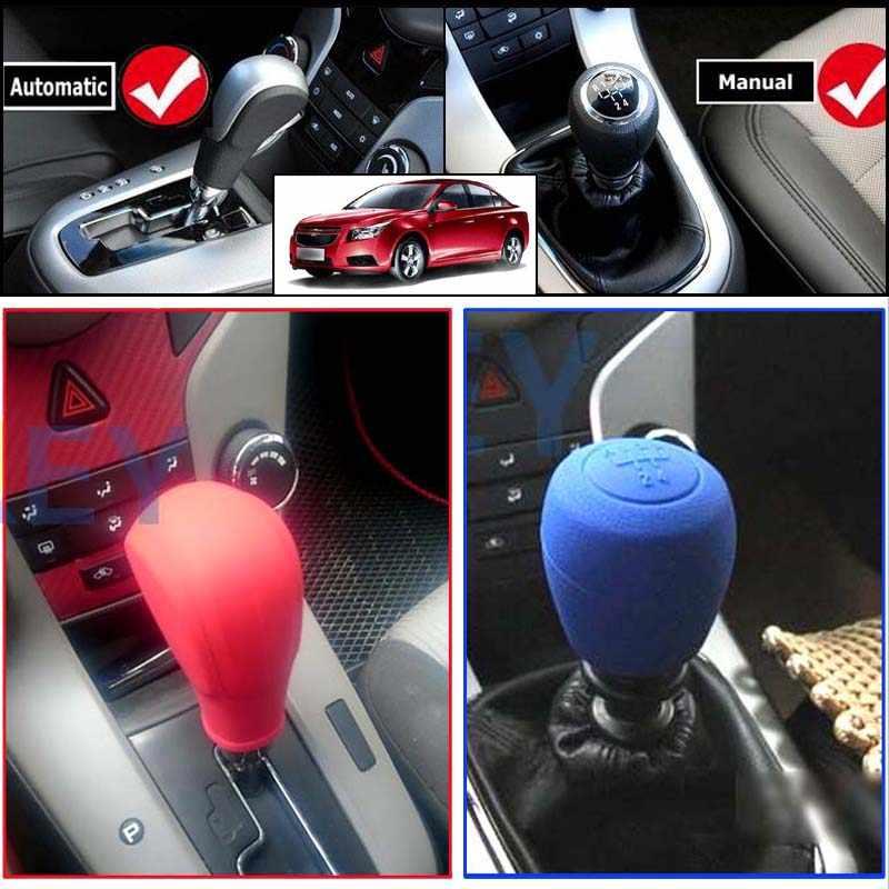Для Chevrolet Cruze 1 стояночного тормоза Шестерни Head рукоятка рычага переключения передач силиконовый чехол 2010 2011 2012 2013 2014 2015 16 ручной автоматический