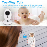 2 4 Inch Wireless Video Color Baby Monitor High Resolution Baby Nanny Security Camera Night Vision